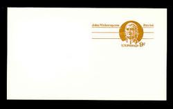 U.S. Scott # UX  69C, 1975 9c John Witherspoon - Patriot Series - Mint Postal Card, COARSE PAPER (See Warranty)