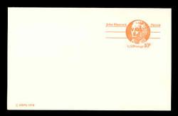 U.S. Scott # UX  75C, 1978 10c John Hancock - Patriot Series - Mint Postal Card, COARSE PAPER (See Warranty)