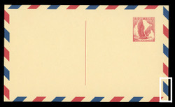 U.S. Scott # UXC  3 B/UPSS #SA3-TB 1958 5c Eagle, red on buff, with red & blue border, Type B - Mint Postal Card (See Warranty)
