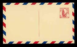 U.S. Scott # UXC  3/UPSS #SA3c1 1958 5c Eagle, red on buff, with red & blue border, BROKEN Line at Top - Mint Postal Card (See Warranty)
