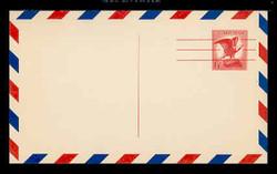 U.S. Scott # UXC  4FL/UPSS #SA4bFL 1963 6c Eagle, red on buff, Precancelled - Mint Postal Card, FLUORESCENT (Low Bright) PAPER (See Warranty)