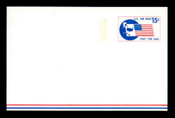U.S. Scott # UXC 11FM 1971 15c Visit the U.S.A., Flag and Map - Mint Postal Card, FLUORESCENT (Medium Bright) PAPER (See Warranty)
