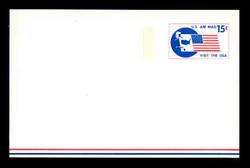U.S. Scott # UXC 11FM 1971 15c Visit the U.S.A., Flag and Map - Mint Postal Card, FLUORESCENT (Medium Bright) PAPER (See Warranty)