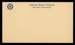 American Legion Auxiliary (Pennsylvania) Correspondence Card (On Scott #UX27) - Est. period of use, 1940s.