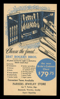 Rogers Brothers Silverplate Advertising Card (On Scott #UX27) - Est. period of use, late 1940s.