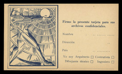 American Architect Magazine, Notification in Spanish (On Scott #UX37) - Est. period of use, late 1920s.
