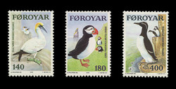 FAROE ISLANDS Scott #  36-8, 1978 Faroe Islands Sea Birds (Set of 3)