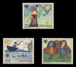 FAROE ISLANDS Scott #  45-7, 1979 International Year of the Child (Set of 3)