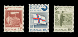 FAROE ISLANDS Scott #  21-3, 1976 Independent Postal Service (Set of 3)