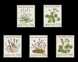 FAROE ISLANDS Scott #  48-52, 1980 Plants of the Faroe Islands (Set of 5)