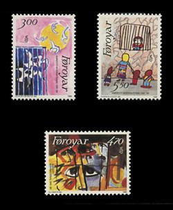 FAROE ISLANDS Scott # 145-7, 1986 Amnesty International, 25th Anniversary (Set of 3)