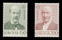 FAROE ISLANDS Scott #  53-4, 1980 EUROPA - Linguists (Set of 2)