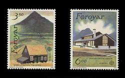 FAROE ISLANDS Scott # 205-6, 1990 EUROPA - Faroese Post Offices (Set of 2)