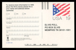 SET of 2 Elvis Ballots on 2 UX153 Postal Cards
