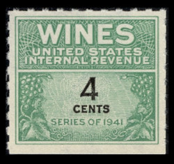 U.S. Scott #RE116, 1942 4c Wine Stamp