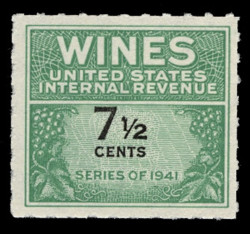 U.S. Scott #RE120, 1942 7 1/2c Wine Stamp