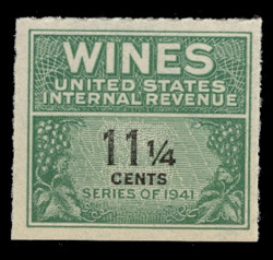 U.S. Scott #RE124, 1942 11 1/4c Wine Stamp