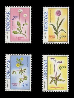FAROE ISLANDS Scott # 169-72, 1988 Faroe Islands Flowers (Set of 4)