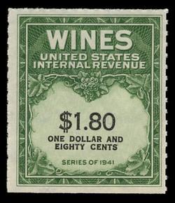 U.S. Scott #RE149, 1942 $1.80 Wine Stamp