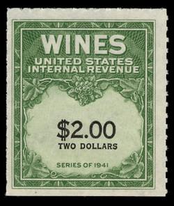 U.S. Scott #RE174, 1949 $2.00 Wine Stamp
