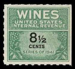 U.S. Scott #RE184, 1951 8 1/2c Wine Stamp