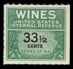 U.S. Scott #RE188, 1951 33 1/2c Wine Stamp