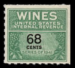 U.S. Scott #RE193, 1951 68c Wine Stamp
