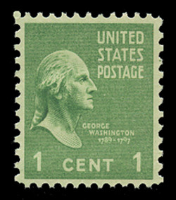 U.S. Scott # 804, 1938 1c George Washington
