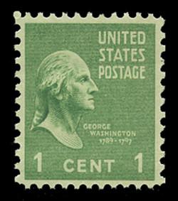 U.S. Scott # 804, 1938 1c George Washington