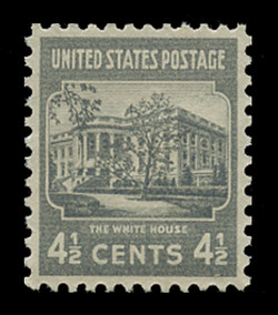 U.S. Scott # 809, 1938 4 1/2c The White House