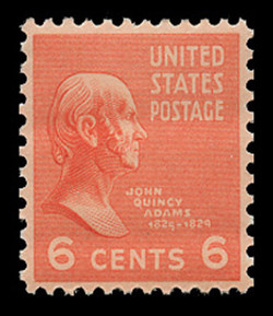 U.S. Scott # 811, 1938 6c John Quincy Adams