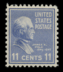 U.S. Scott # 816, 1938 11c James K. Polk
