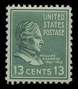U.S. Scott # 818, 1938 13c Millard Fillmore
