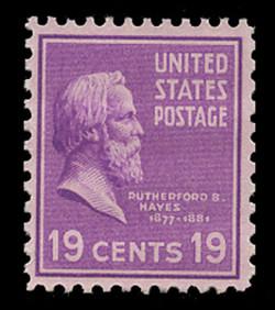 U.S. Scott # 824, 1938 19c Rutherford B. Hayes