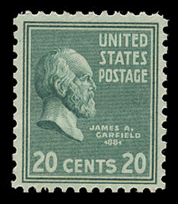 U.S. Scott # 825, 1938 20c James A. Garifeld