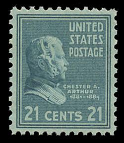 U.S. Scott # 826, 1938 21c Chester A. Arthur