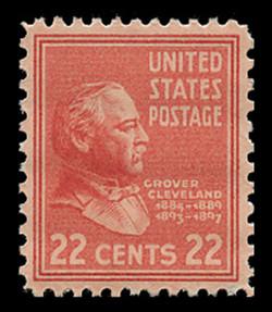 U.S. Scott # 827, 1938 22c Grover Cleveland