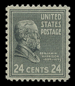 U.S. Scott # 828, 1938 24c Benjamin Harrison