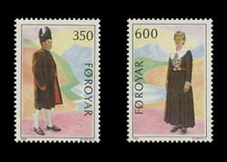 FAROE ISLANDS Scott # 189-90, 1989 Faroese Folk Costumes (Set of 2)