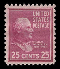 U.S. Scott # 829, 1938 25c William McKinley