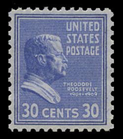U.S. Scott # 830, 1938 30c Theodore Roosevelt