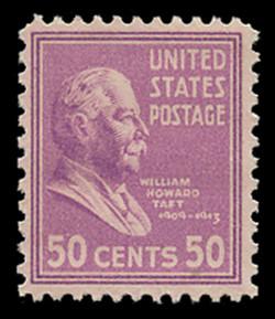 U.S. Scott # 831, 1938 50c William Howard Taft