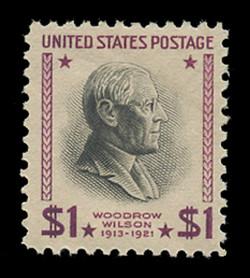 U.S. Scott # 832, 1938 $1 Woodrow Wilson