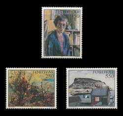 FAROE ISLANDS Scott # 127-9, 1985 Paintings in Faroese Art Museum (Set of 3)
