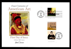 U.S. Scott #3236 American Art, Press Sheet First Day Covers.  Steve Levine/Colorano cachet, SET of 5 PAIRS with Horizontal Gutters