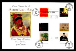 U.S. Scott #3236 American Art, Press Sheet First Day Cover.  Steve Levine/Colorano cachet, Cross-Gutter Block
