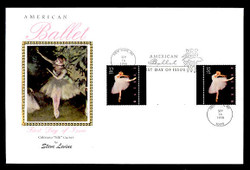U.S. Scott #3237 American Ballet, Press Sheet First Day Cover.  Steve Levine/Colorano cachet, PAIR with Vertical Gutter