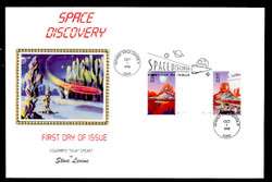 U.S. Scott #3238 Space Discovery, Press Sheet First Day Cover.  Steve Levine/Colorano cachet, PAIR with Vertical Gutter