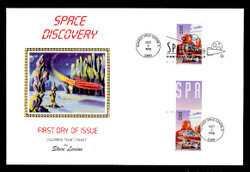 U.S. Scott #3238 Space Discovery, Press Sheet First Day Covers.  Steve Levine/Colorano cachet, SET of 5 PAIRS with Horizontal Gutters