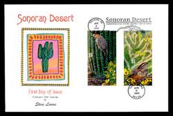 U.S. Scott #3293 Sonoran Desert, Press Sheet First Day Cover.  Steve Levine/Colorano cachet, PAIR with Vertical Gutter